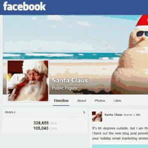 Santa Facebook page2