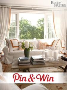 Better Homes and Gardens Pin and Win Contest