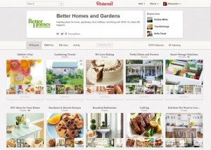 Better Homes and Gardens Pinterest Account