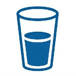 water glass graphic